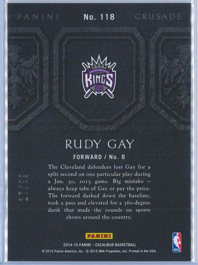 Rudy Gay Panini Excalibur Basketball 2014 15 Crusade Camouflage Red 1799 2