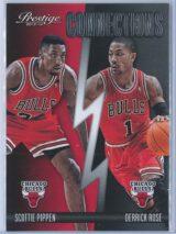 Scottie Pippen - Derrick Rose Panini Prestige Basketball 2013-14 Connections