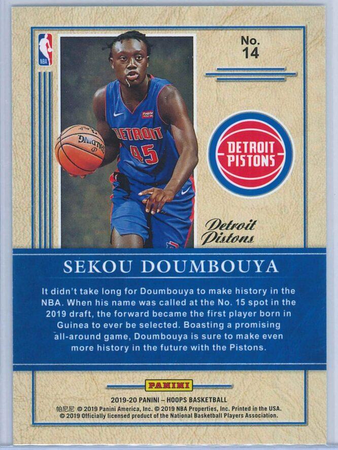 Sekou Doumbouya Panini NBA Hoops 2019 20 Class of 2019 2