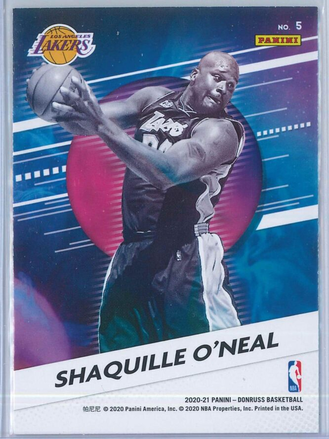 Shaquille Oneal Panini Donruss Basketball 2020 21 Retro Series 2