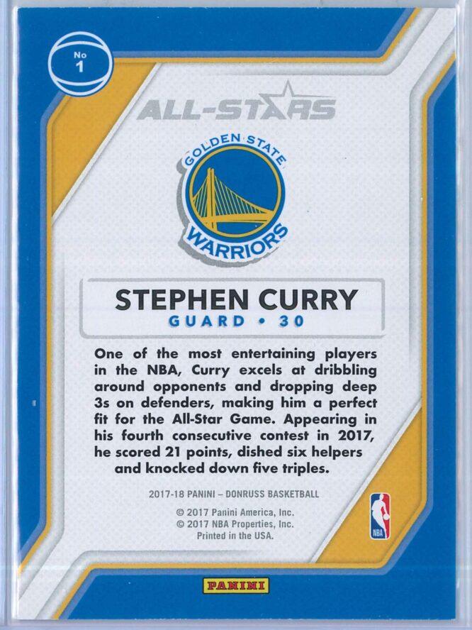 Stephen Curry Panini Donruss Basketball 2017 18 All Stars 2
