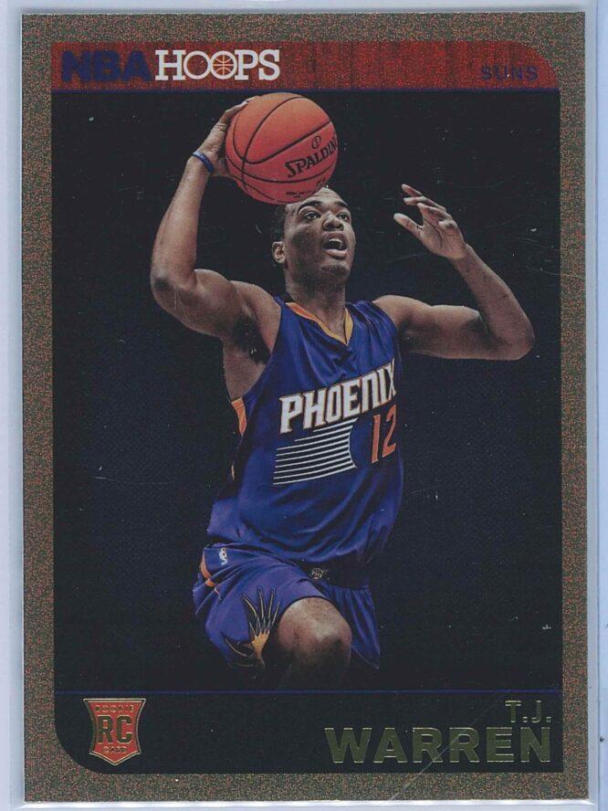 T.J. Warren Panini NBA Hoops Basketball 2014-15 Base Gold  RC