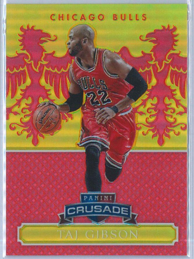 Taj Gibson Panini Excalibur Basketball 2014 15 Crusade Camouflage Red 3999 1