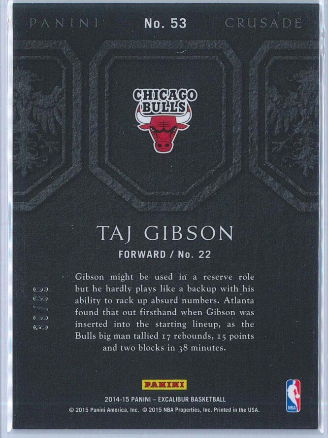 Taj Gibson Panini Excalibur Basketball 2014 15 Crusade Camouflage Red 3999 2