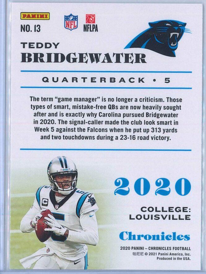 Teddy Bridgewater Panini Chronicles Football 2020 Base 2