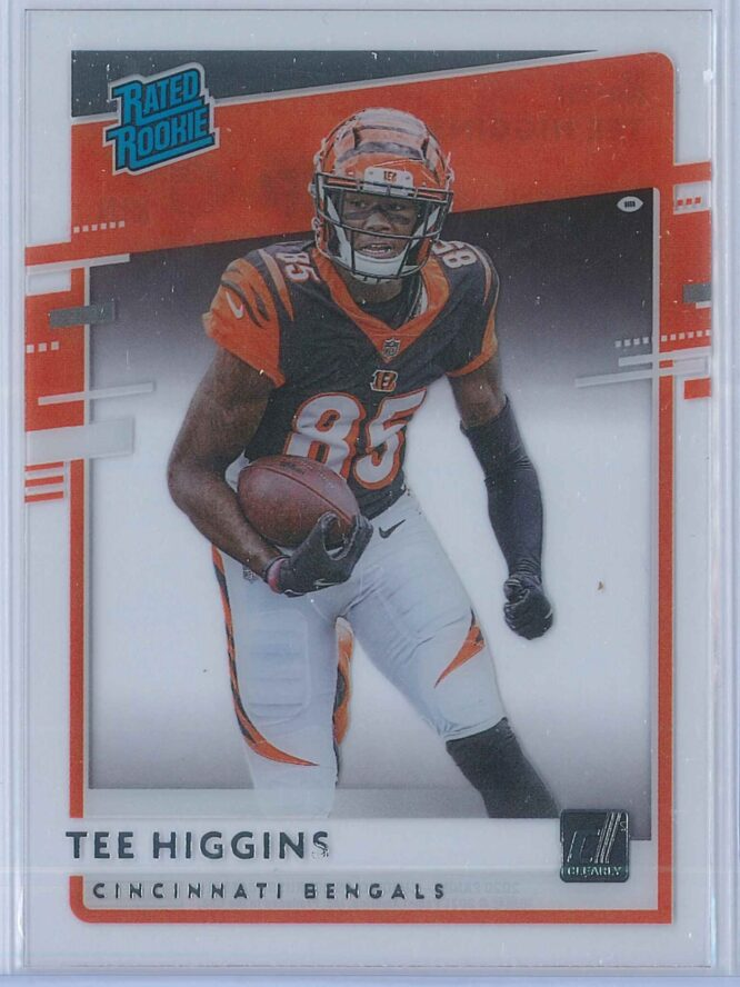 Tee Higgins Panini Chronicles Football 2020 Clearly Donruss  Rated Rookie