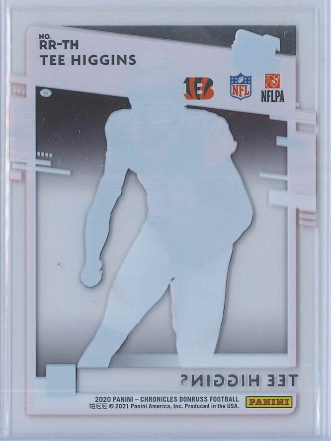 Tee Higgins Panini Chronicles Football 2020 Clearly Donruss Rated Rookie 2
