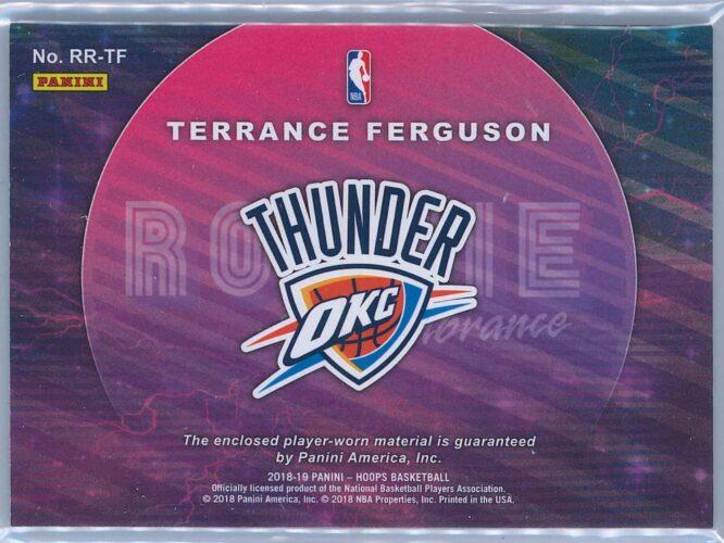 Terrance Ferguson Panini NBA Hoops 2018 19 Rookie Remembrance Relic 2