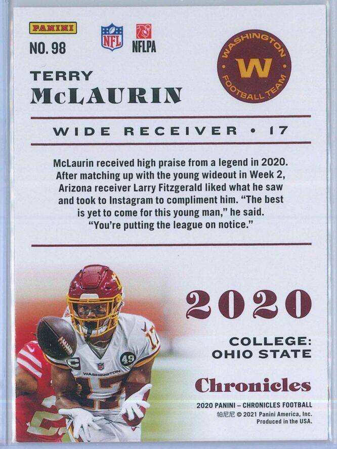 Terry McLaurin Panini Chronicles Football 2020 Base 2