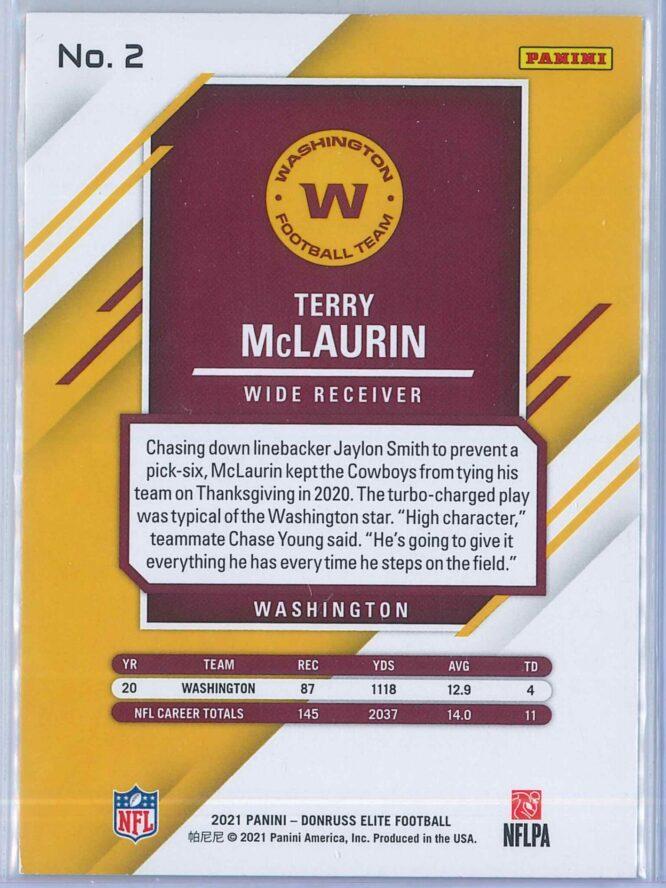 Terry McLaurin Panini Donruss Elite Football 2021 Base 2