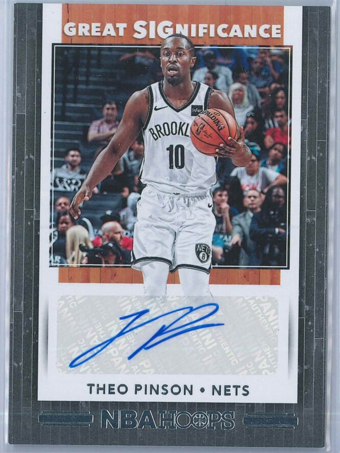 Theo Pinson Panini NBA Hoops 2019-20 Great SIGnificance   Auto