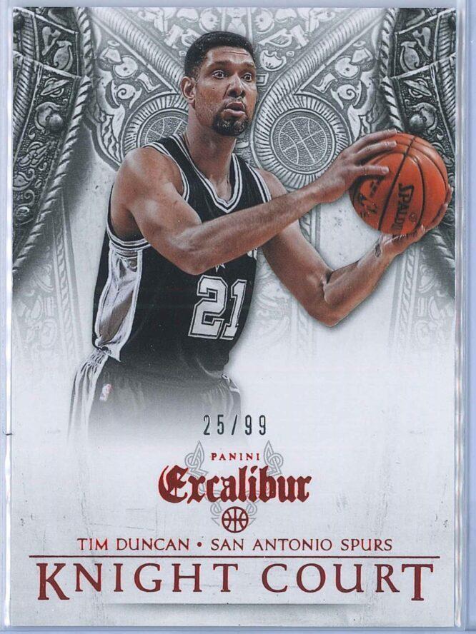 Tim Duncan Panini Excalibur Basketball 2014 15 Knight Court Orange 2599 1