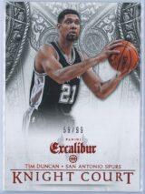 Tim Duncan Panini Excalibur Basketball 2014 15 Knight Court Orange 5999 1