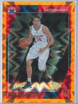 Tomas Satoransky Panini NBA Hoops Basketball 2016 17 Base Orange Explosion 5875 RC 1