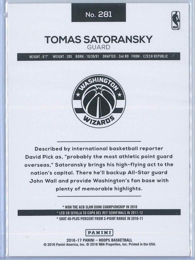 Tomas Satoransky Panini NBA Hoops Basketball 2016 17 Base Orange Explosion 5875 RC 2
