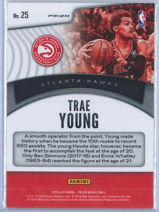 Trae Young Panini Prizm 2019 20 Dominance Silver 2