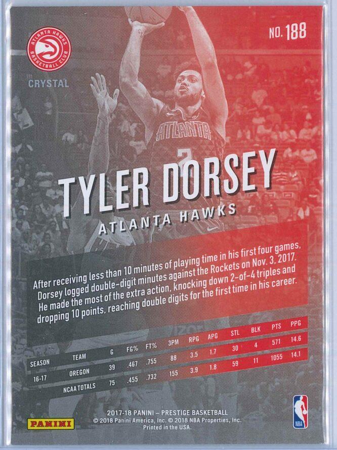 Tyler Dorsey Panini Prestige Basketball 2017 18 Base Crystal Parallel 124199 RC 2