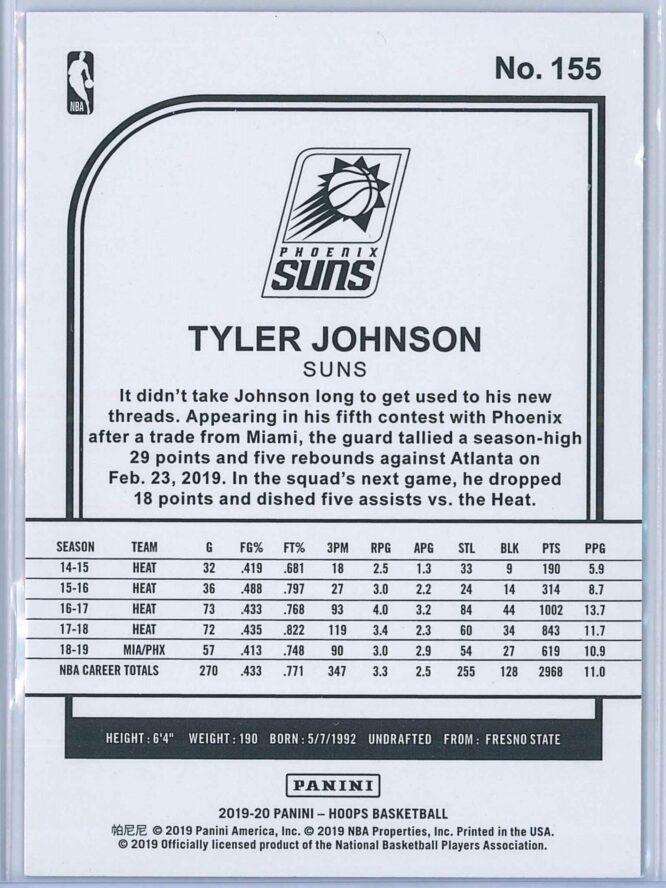 Tyler Johnson Panini NBA Hoops 2019 20 Purple 2