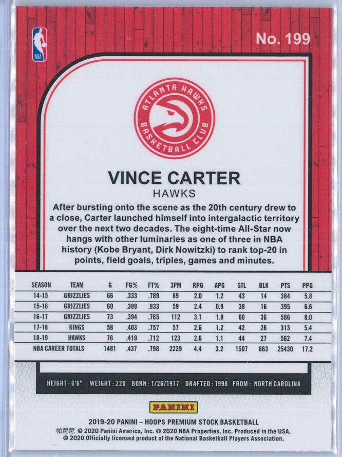 Vince Carter Panini NBA Hoops Premium Stock 2019 20 Base 2