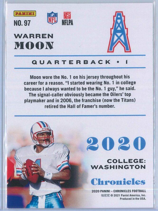 Warren Moon Panini Chronicles Football 2020 Base 2