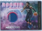 Wes Iwundu Panini NBA Hoops 2018-19 Rookie Remembrance Relic   Winter Two Colour Patch