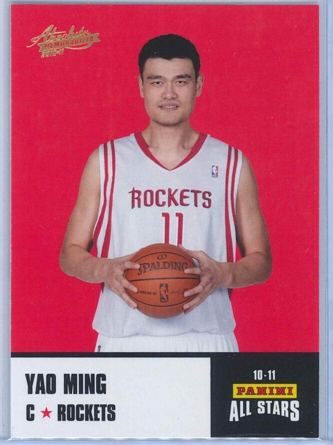 Yao Ming Panini Absolute Memorabilia 2010-11 Panini All Stars