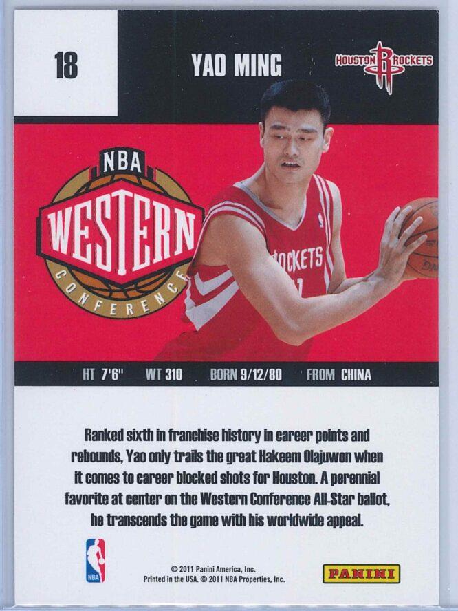 Yao Ming Panini Absolute Memorabilia 2010 11 Panini All Stars 2