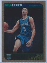 Zach Lavine Panini NBA Hoops Basketball 2014-15 Base Gold  RC