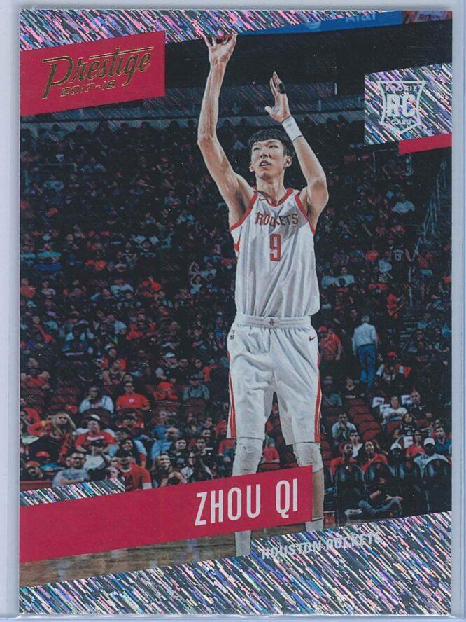 Zhou Qi Panini Prestige Basketball 2017-18 Base Rain Parallel  RC