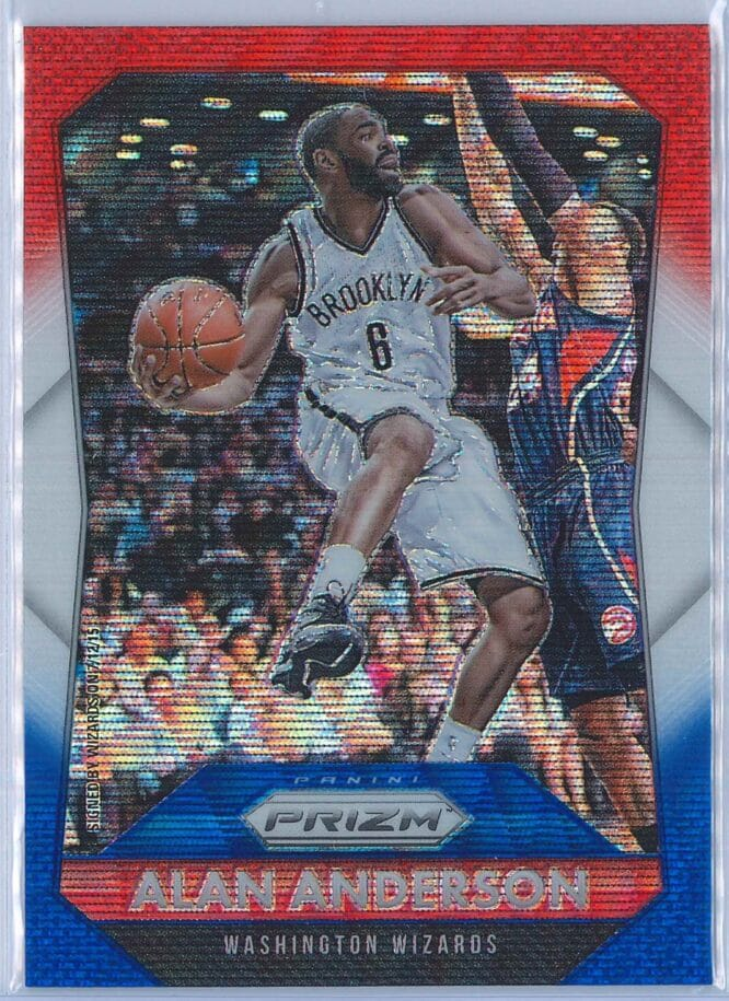 Alan Anderson Panini Prizm Basketball 2015-16 Base Red White Blue Parallel