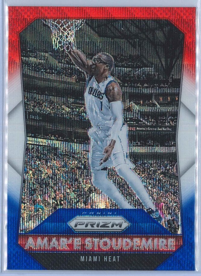 AmarE Stoudemire Panini Prizm Basketball 2015-16 Base Red White Blue Parallel