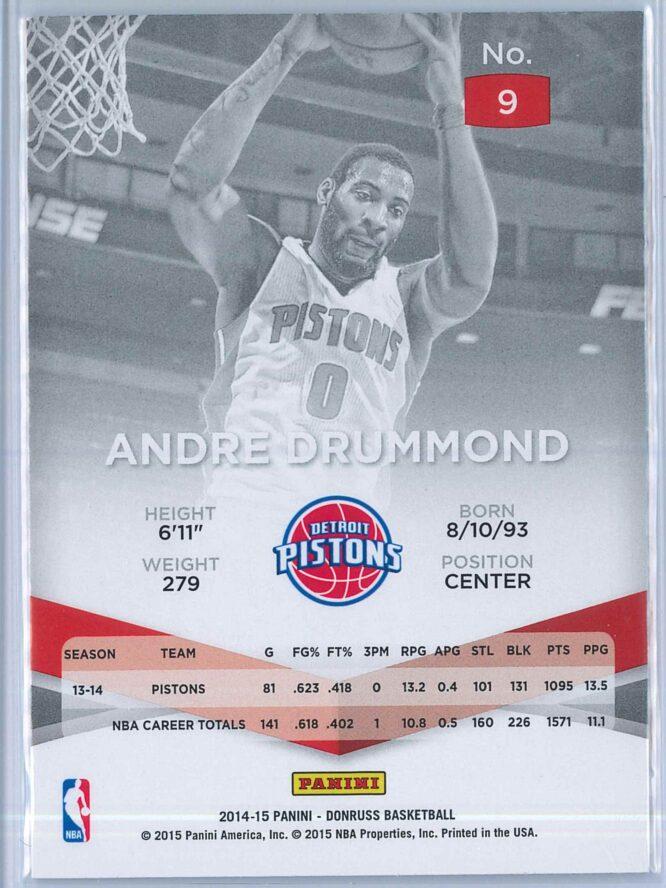 Andre Drummond Panini Donruss Basketball 2014 15 Elite 2