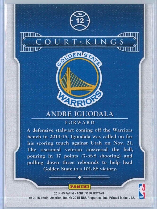 Andre Igouodala Panini Donruss Basketball 2014 15 Court Kings 2