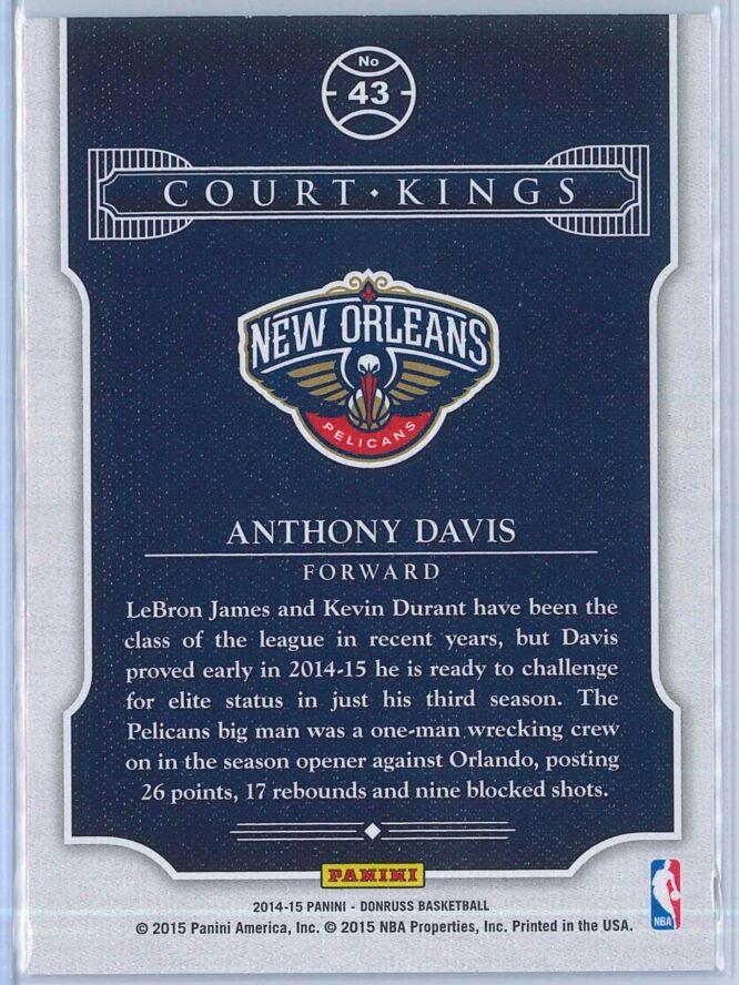 Anthony Davis Panini Donruss Basketball 2014 15 Court Kings 2