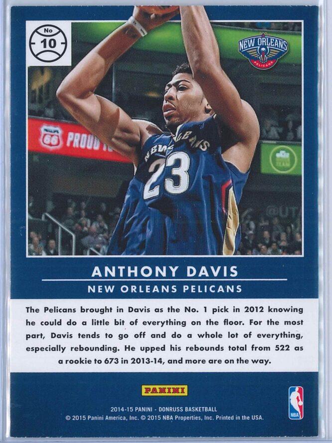 Anthony Davis Panini Donruss Basketball 2014 15 Production Line 2