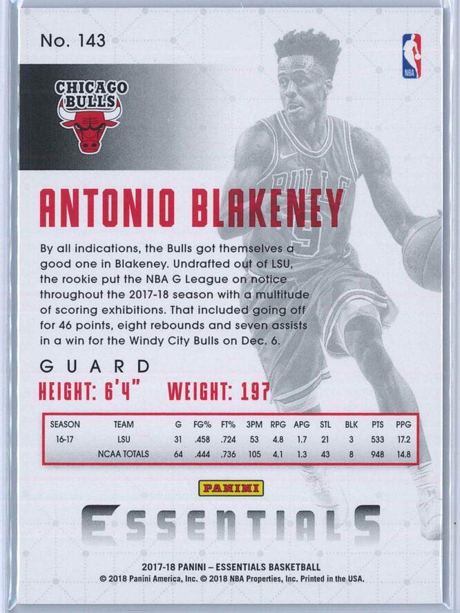 Antonio Blakeney Panini Essentials Basketball 2017 18 Base Green RC 2