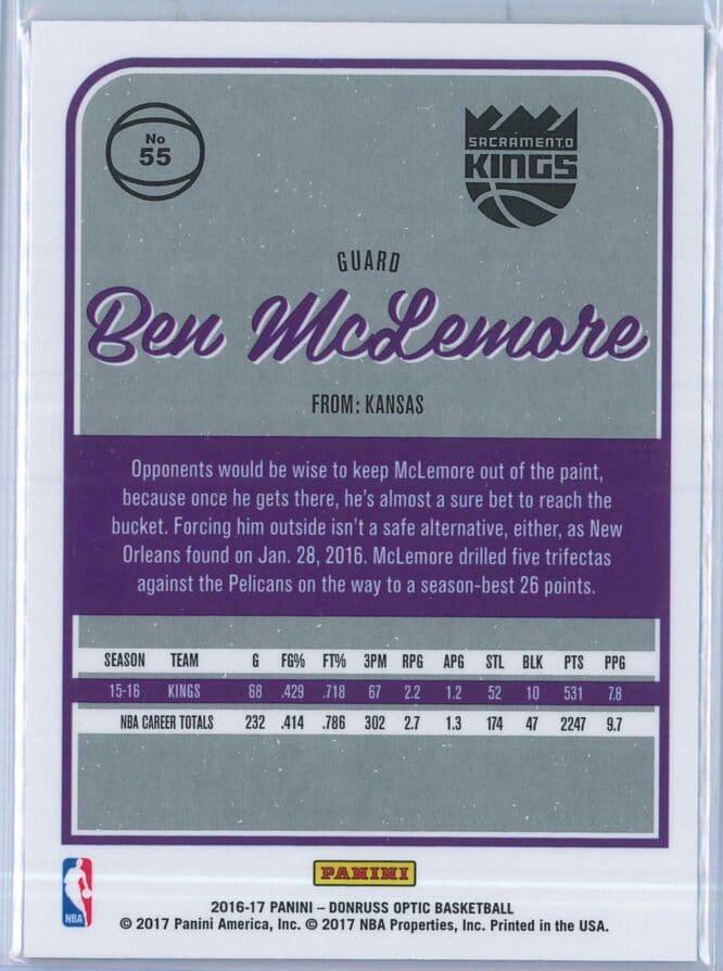 Ben McLemore Panini Donruss Optic Basketball 2016 17 Base 2