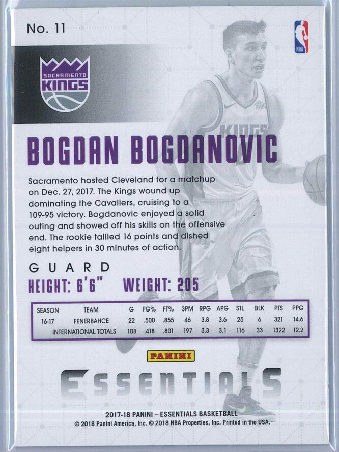 Bogdan Bogdanovic Panini Essentials Basketball 2017 18 Base Green RC 2