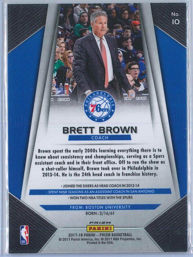 Brett Brown Panini Prizm Basketball 2017 18 Base Red White Blue Parallel 2