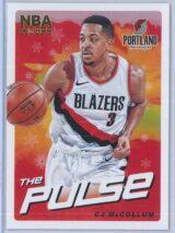 C.J. McCollum Panini NBA Hoops Basketball 2018-19 The Pulse Winter Parallel