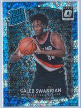 Caleb Swanigan Panini Donruss Optic Basketball 2017-18 Rated Rookie Holo Fast Break Parallel