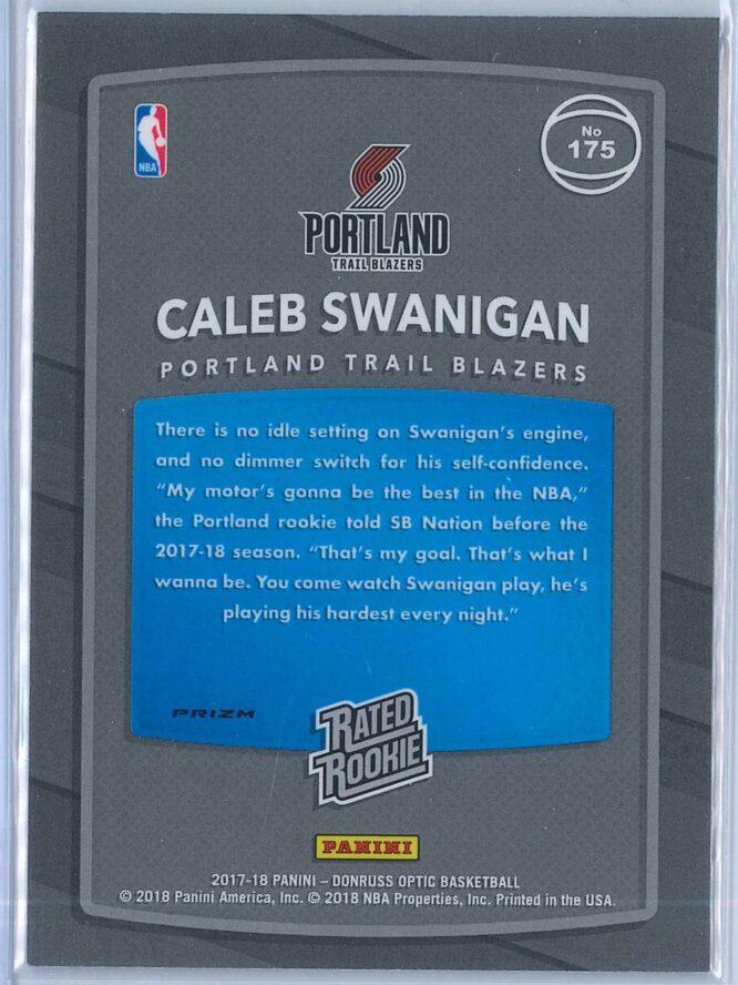 Caleb Swanigan Panini Donruss Optic Basketball 2017 18 Rated Rookie Holo Fast Break Parallel 2