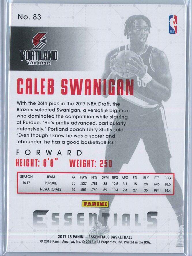 Caleb Swanigan Panini Essentials Basketball 2017 18 Base Green RC 2
