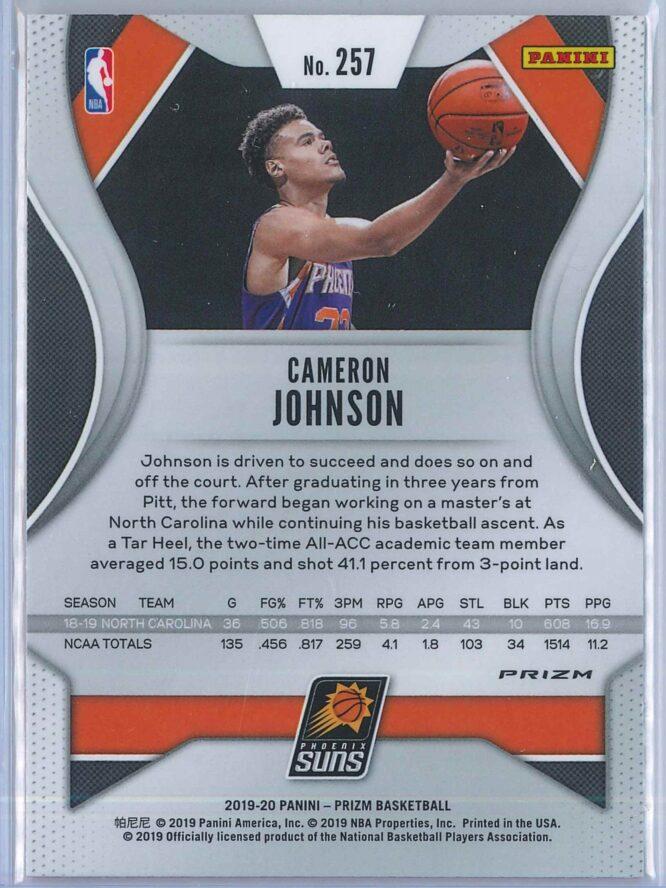Cameron Johnson Panini Prizm Basketball 2019 20 Base Orange Ice Parallel RC 2