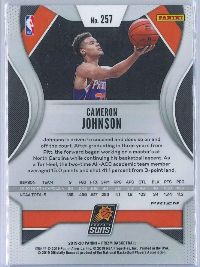 Cameron Johnson Panini Prizm Basketball 2019 20 Base Pink Ice Parallel RC 2