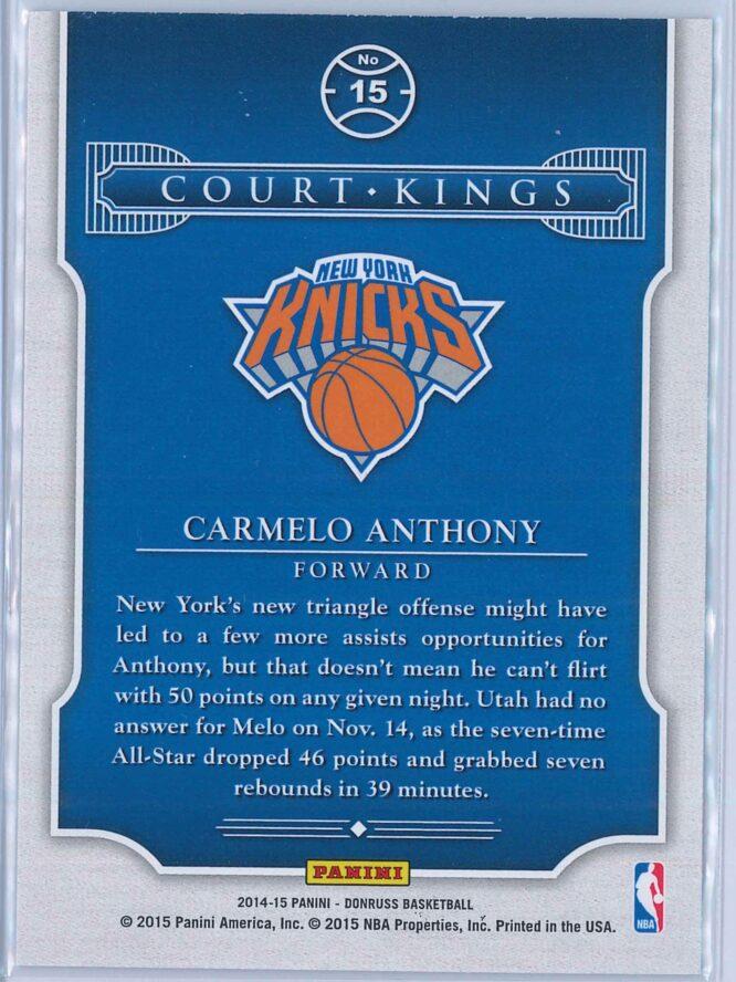 Carmelo Anthony Panini Donruss Basketball 2014 15 Court Kings 2
