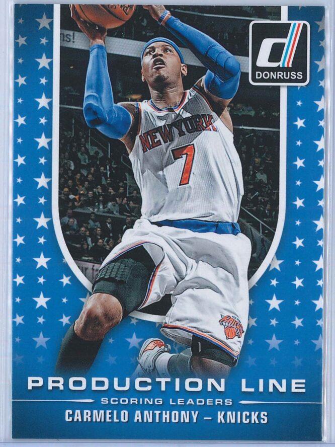 Carmelo Anthony Panini Donruss Basketball 2014-15 Production Line