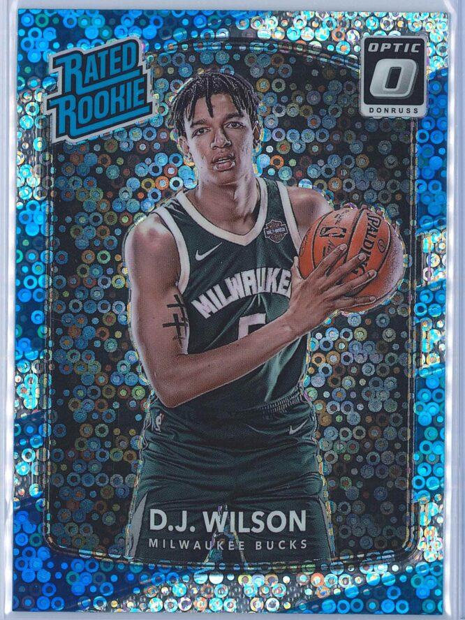 D.J. Wilson Panini Donruss Optic Basketball 2017-18 Rated Rookie Holo Fast Break Parallel