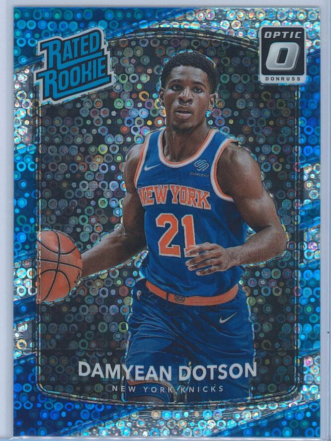 Damyean Dotson Panini Donruss Optic Basketball 2017-18 Rated Rookie Holo Fast Break Parallel