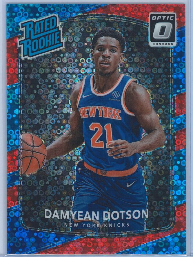 Damyean Dotson Panini Donruss Optic Basketball 2017 18 Rated Rookie Red Fast Break Parallel 1885 1
